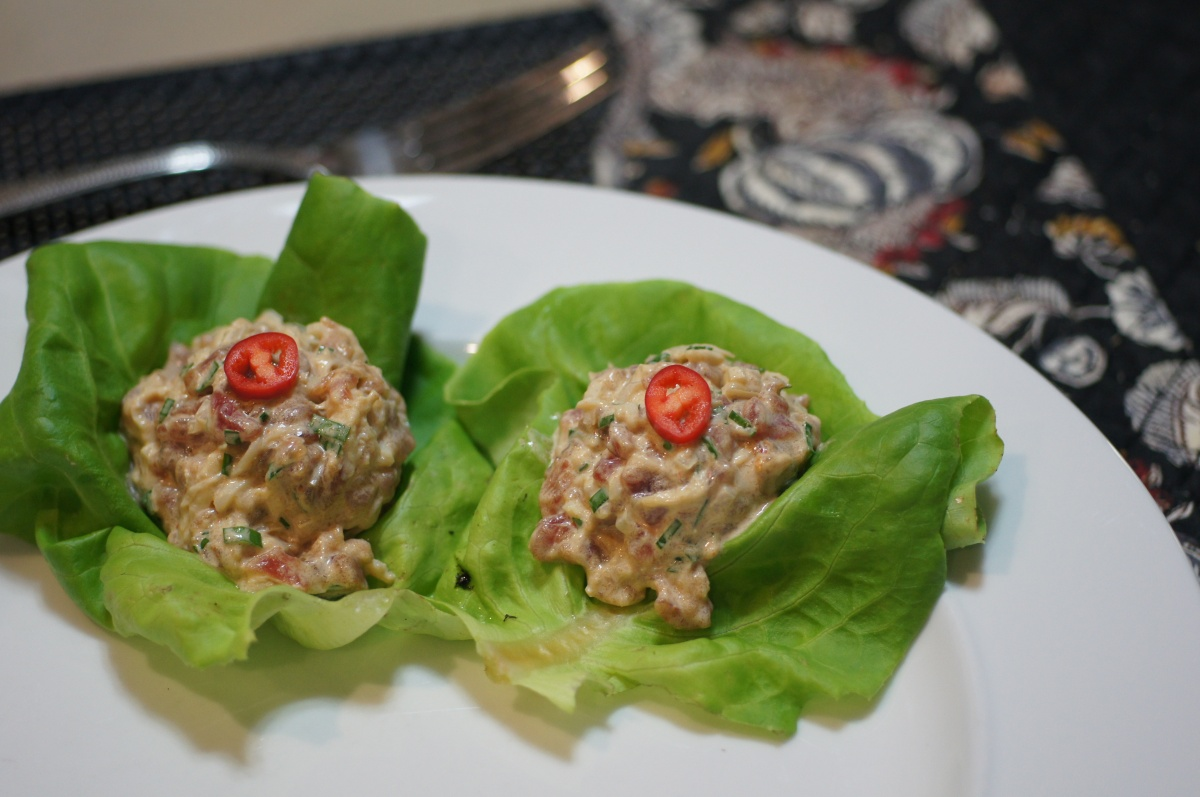Spicy Ahi & Crab Poke Lettuce Wraps