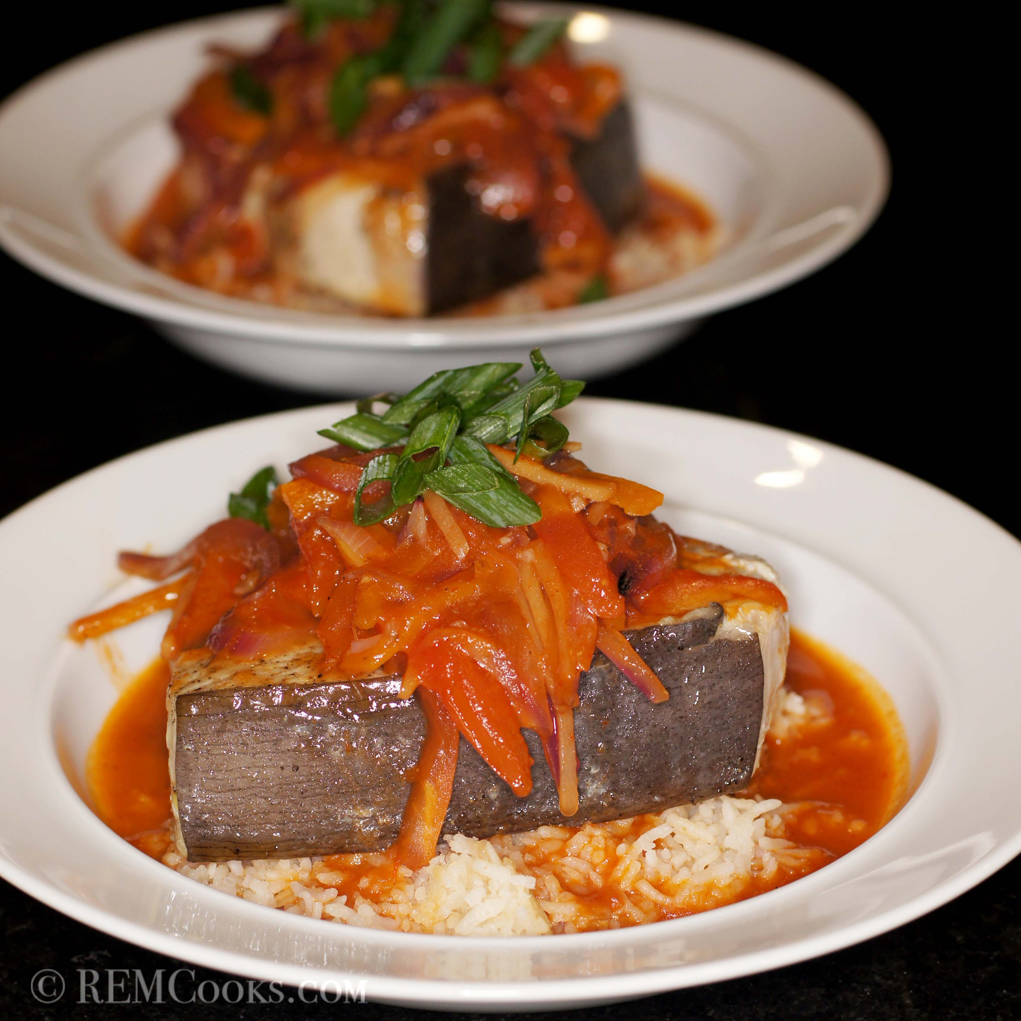 Swordfish in Sriracha Escabeche Sauce | REMCooks