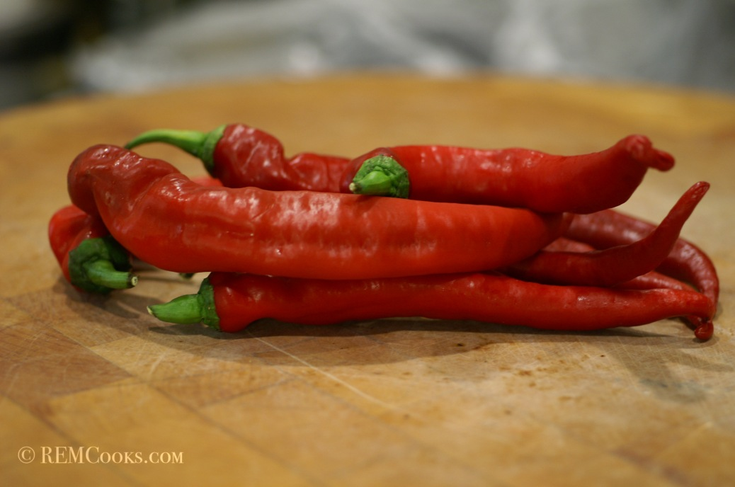 Homegrown Cayenne Peppers