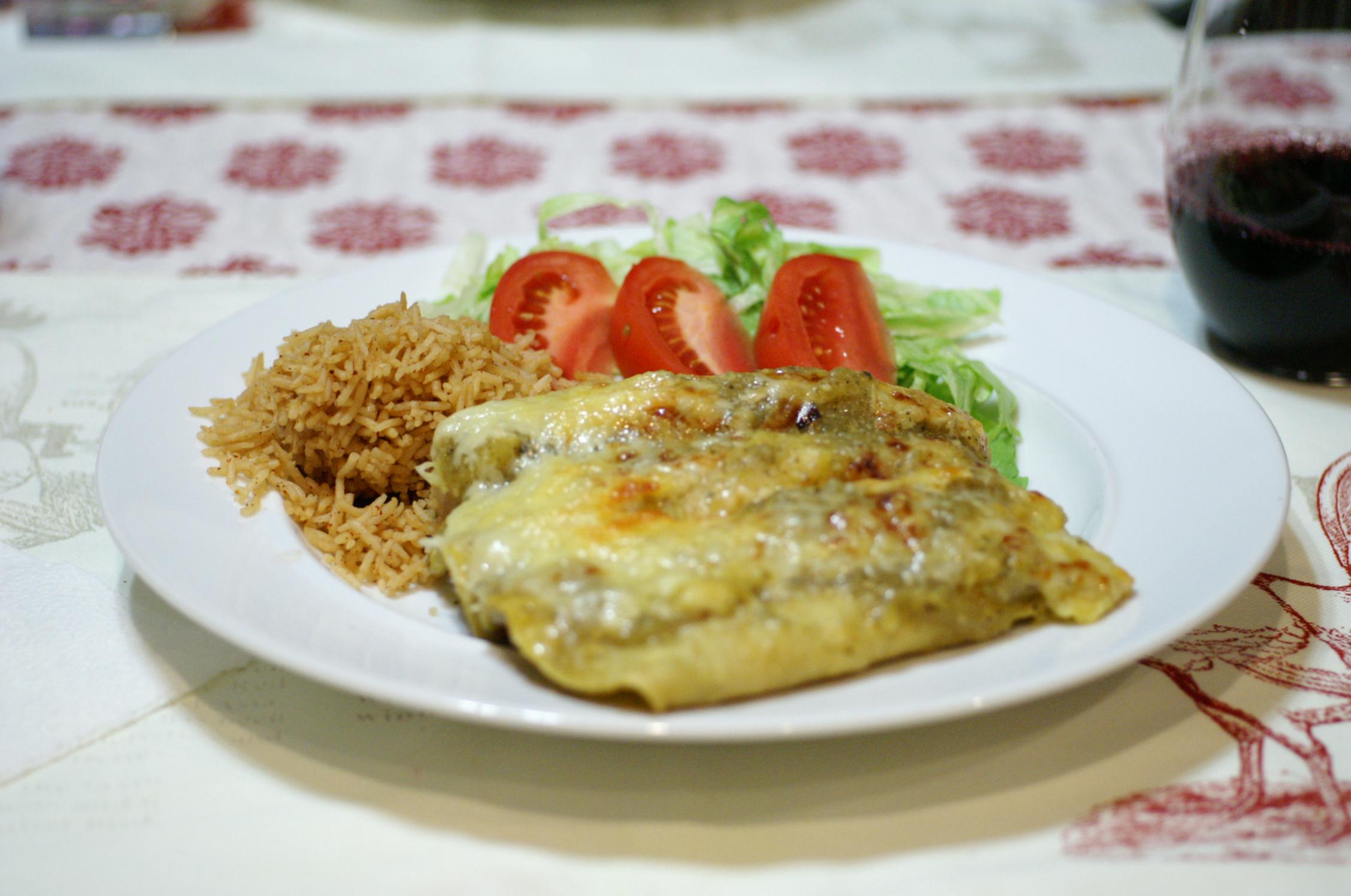 Chicken Enchiladas with Salsa Verde   REMCooks