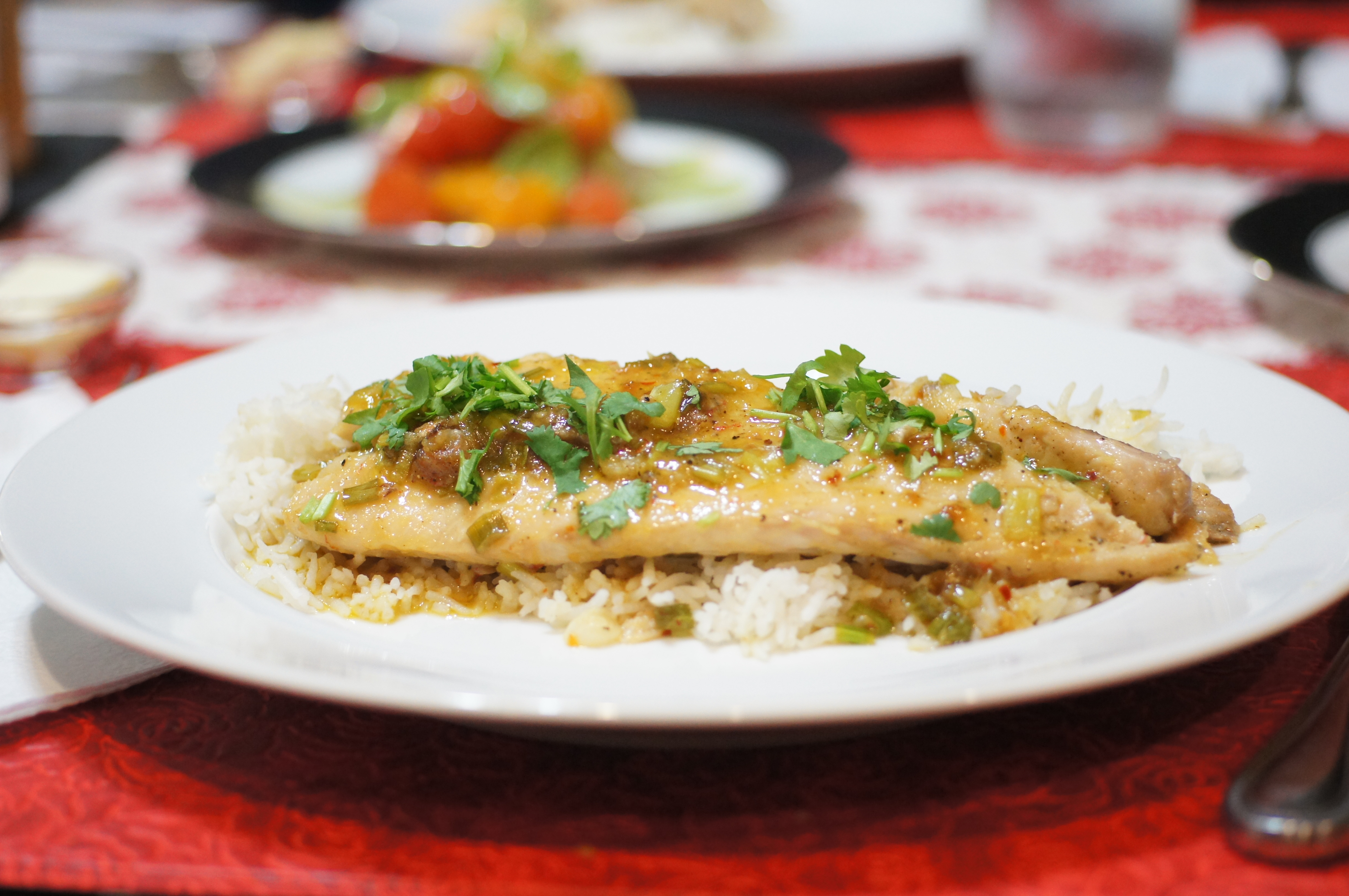 Asian Inspired Red Snapper with Coconut Rice | REMCooks
