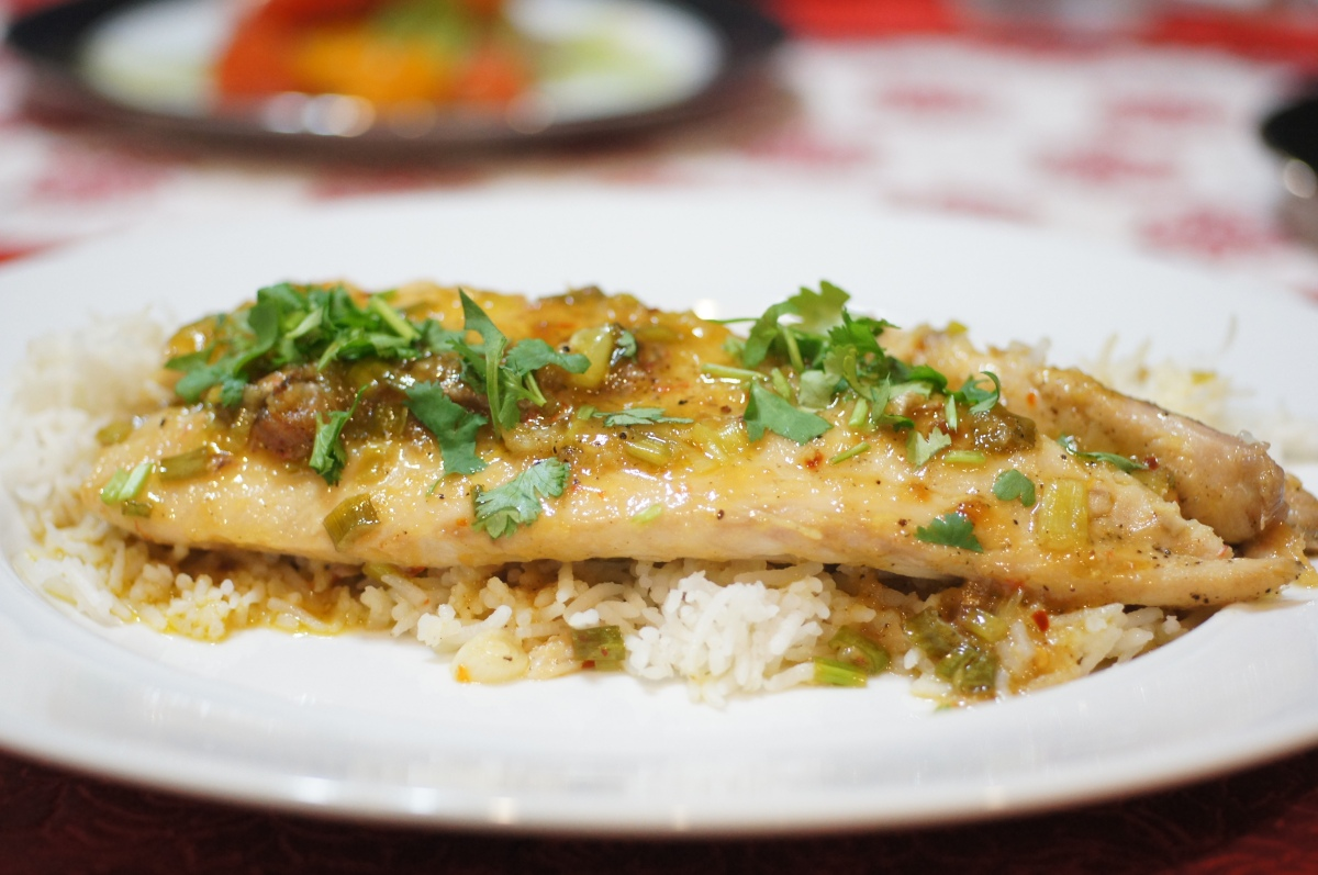 Asian Inspired Red Snapper with Coconut Rice