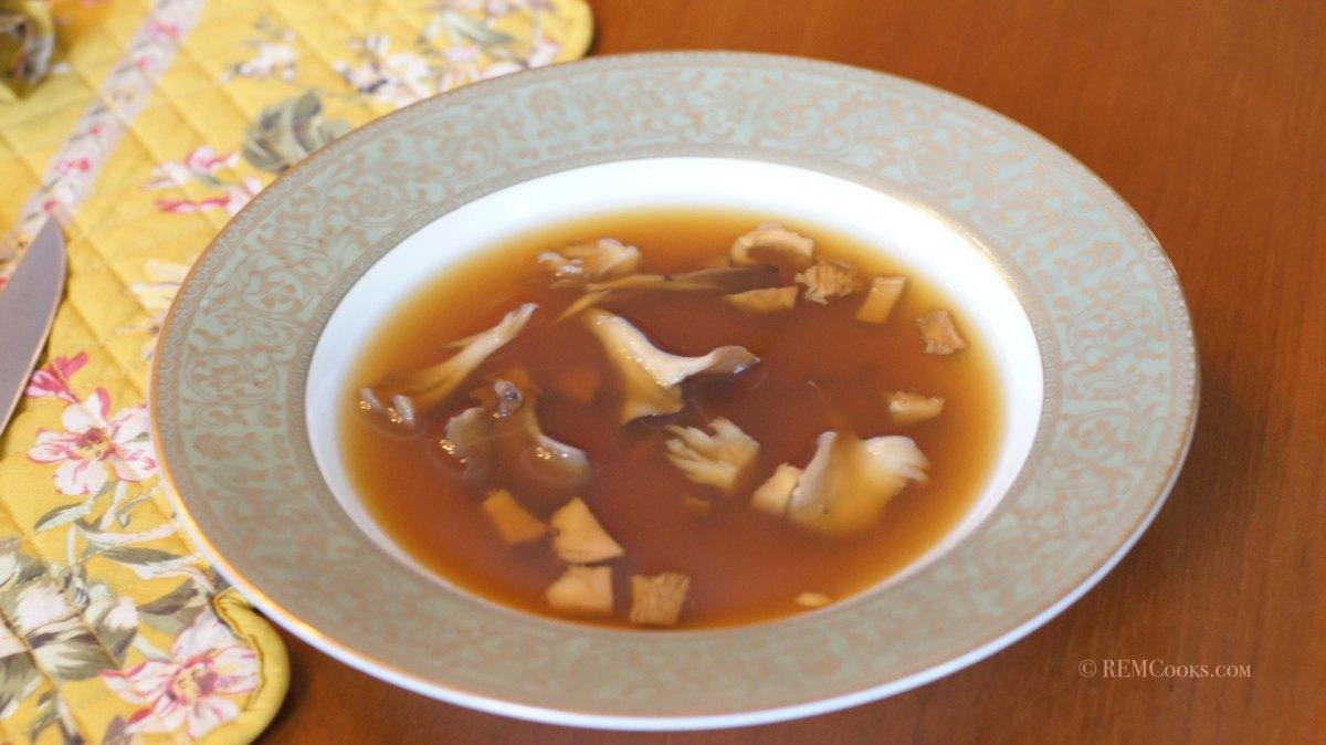 Wild Mushroom Consommé