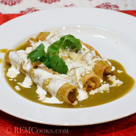 Baby Lady's Crispy Green Enchiladas