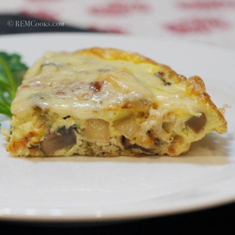 Chicken & Mushroom Frittata for 2