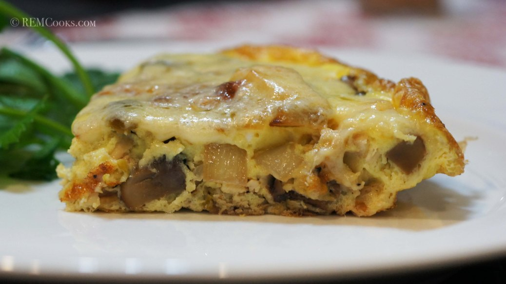 Chicken & Mushroom Frittata for 2