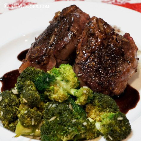Lamb Loin Chops Sous Vide with Red Wine Sauce