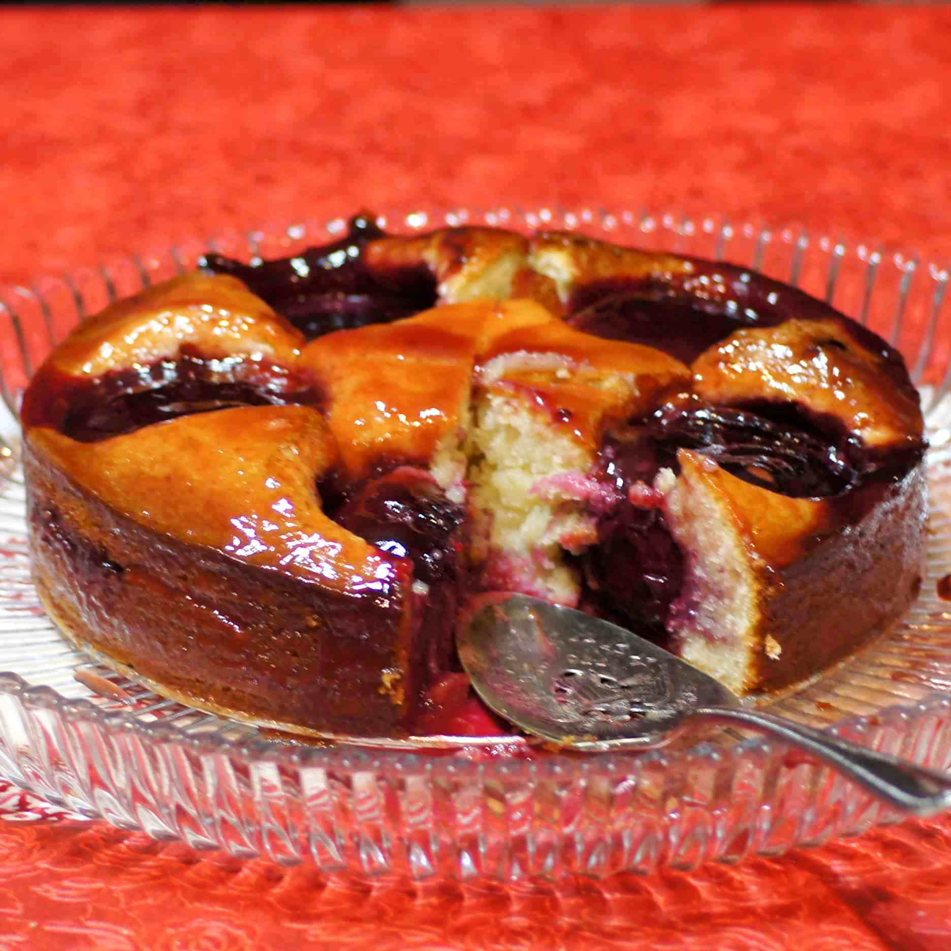 Almond Plum Cake with Plum Glaze | REMCooks
