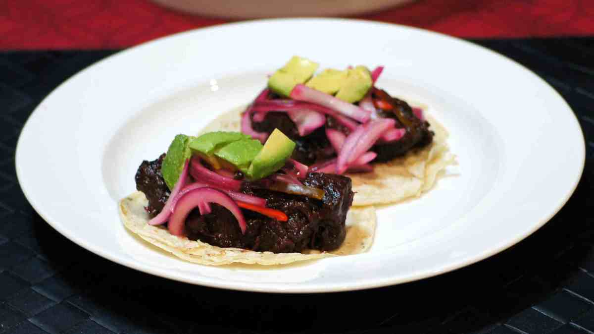 Red Wine Braised Beef Tongue Tacos | REMCooks
