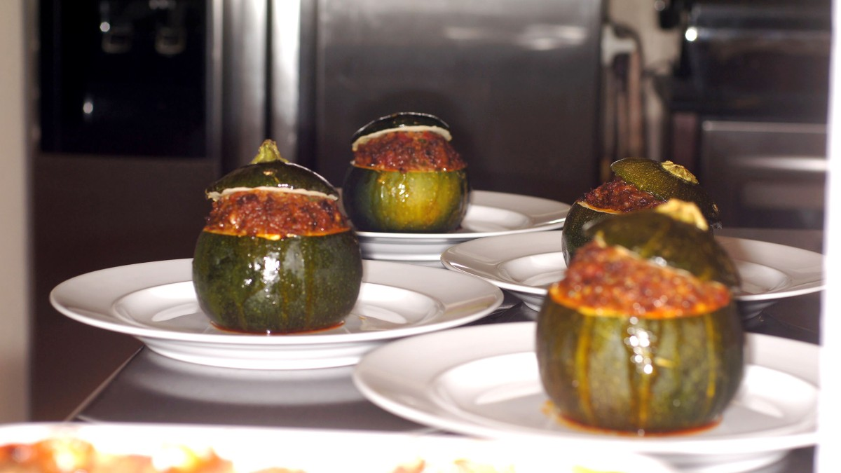 Stuffed 8 Ball Zucchini