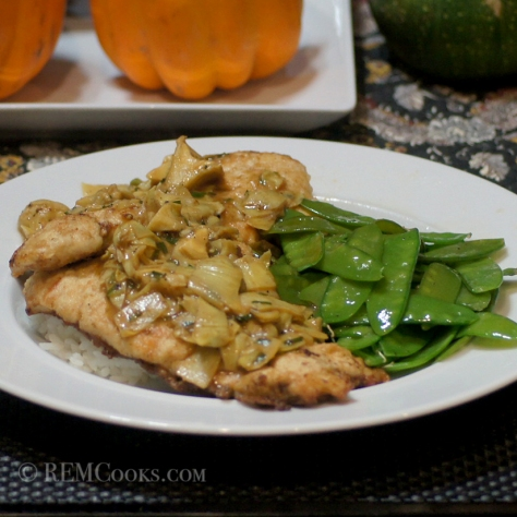 v\Chicken Saltimbocca with Artichoke Sauce