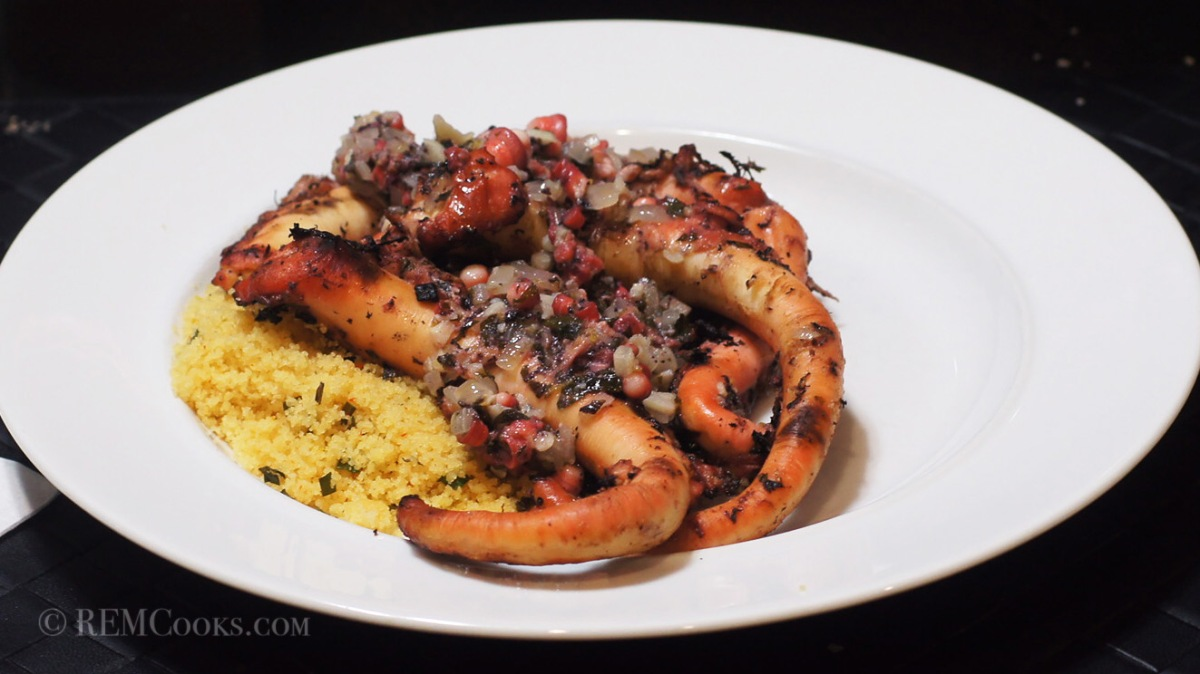 The Sous Vide Experiment Continues - Grilled Octopus Greek Style