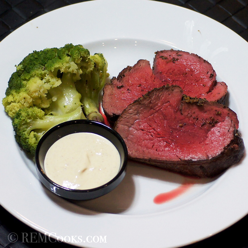 Roasted Beef Tenderloin With Horseradish Mustard Sauce ...